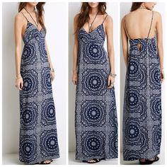 ❤️ Paisley/Bandana Print Maxi dress ✨ Like new ❤️ Forever 21 Dresses Maxi
