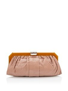 MARNI Women's Topstitched Frame Clutch, Canyon Cinnamon