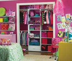 I love this idea for organizing a kids room.