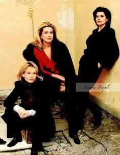 Isabelle Huppert, Catherine Deneuve, Fanny Ardant