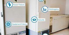 #EDAC units monitor standard #freezertemperatures and even – 80°C ultra-low #freezer #temperatures.