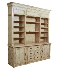 Apothecary Solid Mahogany Cabinet - Weathered White - Bookcases at Hayneedle