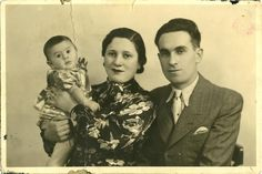 Antwerpen, Belgium, the submitter's sister with her husband and daughter.  Belongs to collection: Yad Vashem Photo Archive