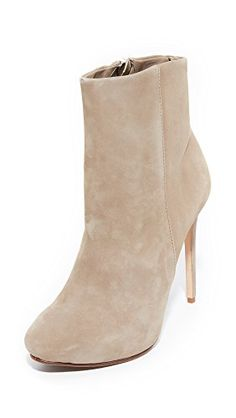 Schutz Womens Dinada Suede Booties Goat 85 BM US ** Check out the image by visiting the link.(This is an Amazon affiliate link and I receive a commission for the sales)
