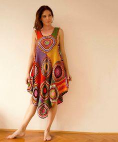 Plus size clothing Women's Dress/Tunic  Light Silky Yarn