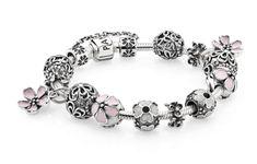 Capri Jewelers Arizona ~ www.caprijewelersaz.com  ~ Light pink inspired floral bracelet #PANDORAbracelet #cherryblossom