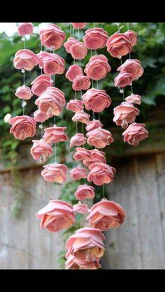 Homemade rose mobile