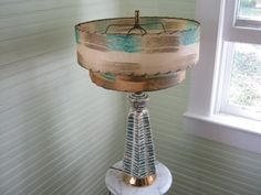 Atomic Era Table Lamp  Vintage Lamp with by JayBirdsVintageShop, $215.00