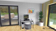 Stadtvilla 224m² | derHausblogger House Plans, Divider, Windows, How To Plan, Room, Furniture, Home Decor, House Design Plans, Home Plans