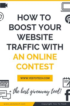 Online contests promote your business and boost your website traffic. Here are the 5 best ways to run an online contest that'll drive traffic to your website Online Marketing Strategies, Marketing Jobs, Digital Marketing, Entrepreneur Website, Online Entrepreneur, Buy Website, Website Ideas, Tips Online, Online Jobs