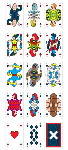 Baralho Personalizado dos X-Men, por Mark Eastwood