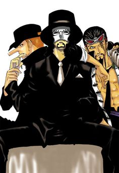 Kaku, Lucci and Jabra  One Piece
