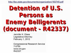 gov doc - R42337 Detention of US Persons in FEMA Camps (click image for pdf website) ... SHARE!!!