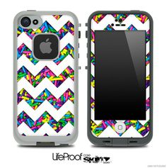 Sprinkle Chevron Print Skin for the iPhone 4/4s or 5 LifeProof Case
