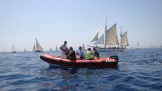 Curs avançat de fotografia de mar MMB. Regata de vaixells clàssics Puig. Barcelona 2013. Foto: Margarita Alonso Sailing Ships, Boat, Vehicles, Photography Courses, Boats, Dinghy, Car, Sailboat, Tall Ships