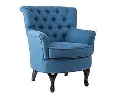 Fauteuil Alissa, blauw, L 70 cm