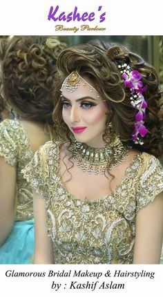 Makeup and hair styling done by kashif aslam by kashee 's beauty parlour