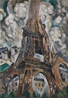 Robert Delaunay: Torre Eiffel. Olio su tela, del 1910. Staatliche Kunsthalle, Karlsruhe. Dipinse, all'inizio della sua carriera, una serie di quadri sia su Parigi che sul suo emblema per eccellenza, la Torre Eiffel, scomponendone i volumi attraverso il cubismo analitico, il suo stile di inizio carriera: lo abbandonò dopo pochi anni per aderire all'astrattismo.