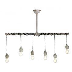 Industriell Hanglampe Metall 6 lampen Nostalux.de