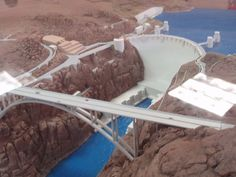 scale model of the hoover dam | Hoover Dam Diorama