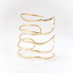 PROTOGON Greek Hammered handmade wire cuff bracelet, Bangle wrist, Rose tone goldplated bronze , summer jewelry,gift for her, bronze brass