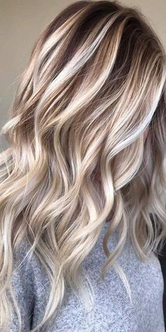Lace Front Wig Blonde Wig New Design Medium blond Grade Peruvian Human Hair Pre Plucked Lace Hair Wigs Long For Girls – Balayage Hair Ash Brown Hair Color, Ombre Hair Color, Hair Color Balayage, Grey Hair, Blonde Highlights, Purple Hair, Blonde Color, Grey Blonde, Blonde Balayage