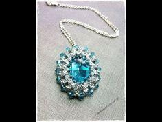 ▶ Bead tutorial DIY how to make swarovski pendant | perles & co website collaboration - YouTube