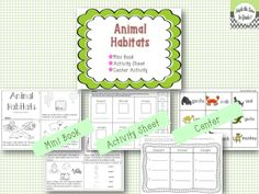 animal habitats facts posters sheets this includes the following habitats desert grasslands. Black Bedroom Furniture Sets. Home Design Ideas