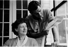 Leonard Bernstein [Leonard Bernstein and a woman reading pages.]
