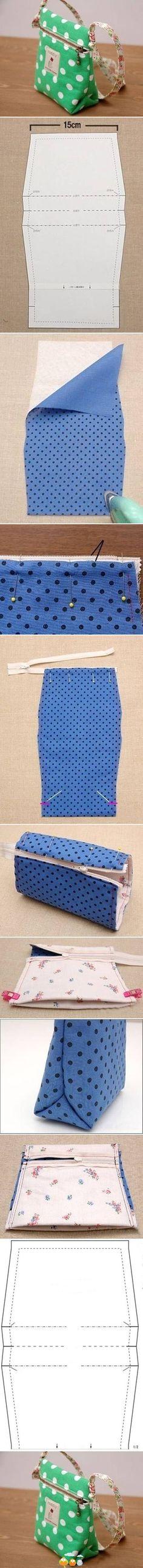 How to Make Stylish Fabric Handmade bags1065