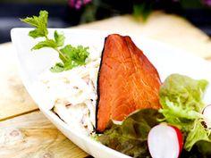 Äppeltzatziki med rökt fisk (kock Ernst Kirchsteiger)