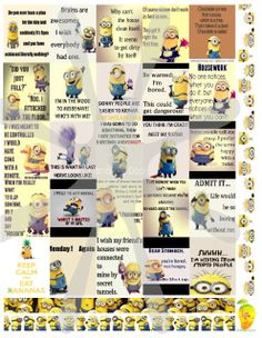 Set Contains Sets 1-3 Minion™ Planner Stickers featuring 3 full free sets! A $4.99 Value for free.. Think about supporting our site by buying another planner set with your savings! These stickers are made to print out onto one 8 1/2X11 sticker paper, cut to size for your personal Mambi Happy Planner™/Erin Condren™ & Plum™ sized and type planners. Add to your cart now. You will not be charged. In printable HQ PDF file format (images on left are poor quality for visual only). Water ...