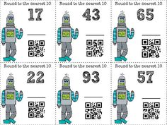 QR Codes in the classroom. Self checking task cards. with or without QR code options! Kids LOVE to check the QR codes! Up the level of engagement. Teaching Technology, Teaching Math, Teaching Ideas, Math Round, Math Place Value, Coding For Kids, Love Math, Third Grade Math, Math Stations