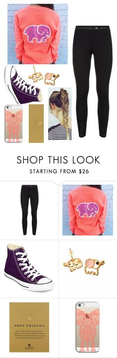 """""""Ivory Ella"""" by makaylacore ❤ liked on Polyvore featuring adidas, Converse, Dogeared and Casetify"""