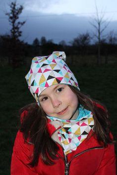 Reversible Slouchy Beanie  , Beanie Slouchy hat and scarf ,Geometric  print , Beanie , scarf , Kids Beanie , neck warmer ,  Spring set Slouchy Beanie, Beanie Hats, Kids Beanies, Neck Warmer, Winter Season, Snug, Turquoise, Spring, Cotton