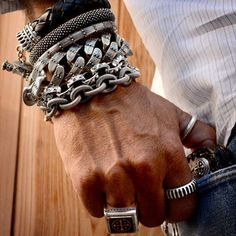 Accessories can spice up any look. Don't be afraid to add a little silver.
