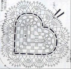 a heart crochet diagram