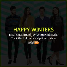 Explore the awesomeness---> http://www.jabongworld.com/shopby/winter.html?dir=desc&order=created_at?utm_source=ViralCurryOrganic&utm_medium=Pinterest&utm_campaign=JWwinterEditCollection-14Jan