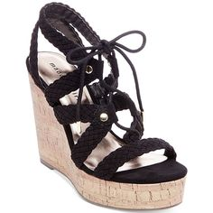 d4786257cc2862 Madden Girl Emboss-c Platform Wedge Sandals ( 49) ❤ liked on Polyvore  featuring