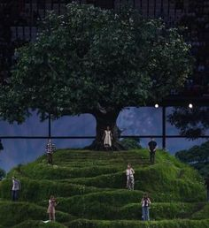 Scenery that depicts nature. Olympic Opening Ceremony, London 2012- Tree backdrop.