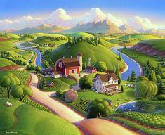 Environment Painting, Environment Concept Art, Fantasy Landscape, Landscape Art, Drawing Scenery, Harmony Art, Boarder Designs, Rm 1, Farm Art