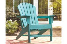 Add cottage-quaint charm to your outdoor oasis with this Adirondack chair in turquoise. Made of a hearty hard plastic material with a touch of texture, it's sure to weather the seasons beautifully. Designed to shed. Plastic Adirondack Chairs, Best Outdoor Furniture, Outdoor Chairs, Outdoor Decor, Outdoor Living, Garden In The Woods, Outdoor Settings, Furniture For Small Spaces, Patio Design