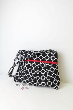 READY to SHIP Stella Diaper Bag Medium Black by marandalee on Etsy nappy bag baby gear