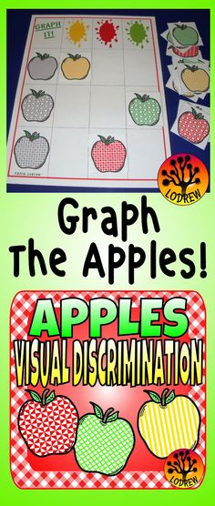 Visual discrimination & size sorting with an apple theme. 108 apples in 3 colors, 3 sizes and 12 patterns! Perfect for Preschool, Kindergarten, or SPED.