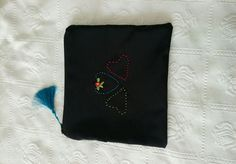Handmade embroidery clutch