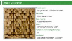3D acoustic wall panel wooden sound diffuser of theater