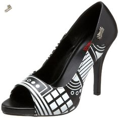Demonia by Pleaser Women's Zombie-06 Pump,Black Polyurethane,8 M US - Pleaser pumps for women (*Amazon Partner-Link)