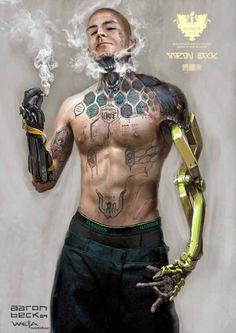 Cyberpunk Gang Leader By Aaron Beck
