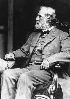 General Robert E. Lee.  This photograph was taken just days after his surrender at Appomattox by the famous Matthew Brady behind General Lee's home in Richmond, VA.