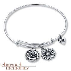 Charmed Memories Letter Q Bangle Bracelet Sterling Silver e1rdE1cmk